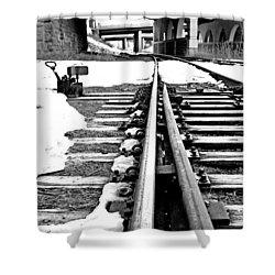 Rail Yard Switch Shower Curtain