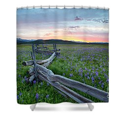 Railfence In The Camas Shower Curtain