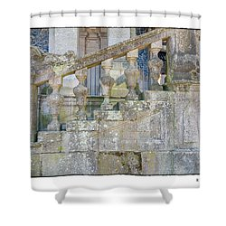 Railing Shower Curtain by R Thomas Berner
