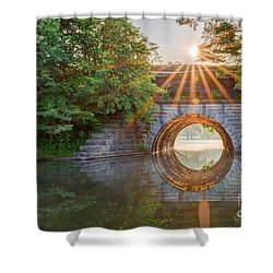 Railroad Bridge Shower Curtain