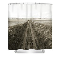 Railroad Cut, West Of Gettysburg Shower Curtain
