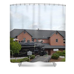 Railroad Depot Shower Curtain