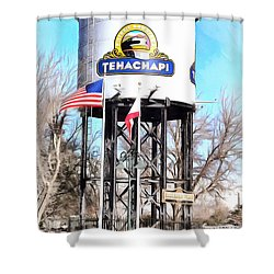 Shower Curtain featuring the photograph Railroad Park Tehachapi California by Floyd Snyder