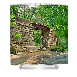 Railroad Tracks At Buttermilk/homewood Falls Shower Curtain