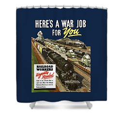 Railroad Workers Urgently Needed Shower Curtain