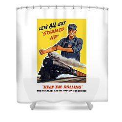 Railroads Are The First Line Of Defense Shower Curtain by War Is Hell Store
