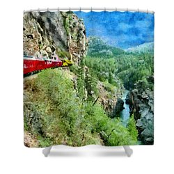 Rails Above The River Shower Curtain by Jeff Kolker