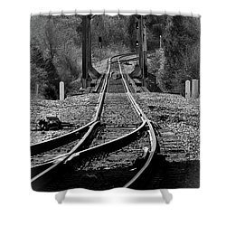 Shower Curtain featuring the photograph Rails by Douglas Stucky