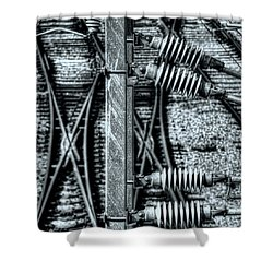 Shower Curtain featuring the photograph Railway Detail by Wayne Sherriff