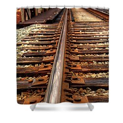 Railway Shower Curtain by Ester Rogers