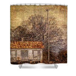 Railway Switching Station Shower Curtain by Phillip Burrow