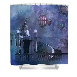 Rain And Balloons At Hearst Castle Shower Curtain