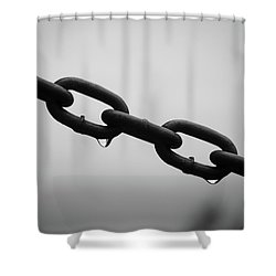 Rain And Chains Shower Curtain