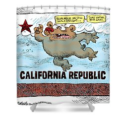 Rain And Drought In California Shower Curtain