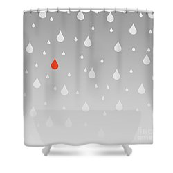 Shower Curtain featuring the painting Rain And Tears by Trilby Cole