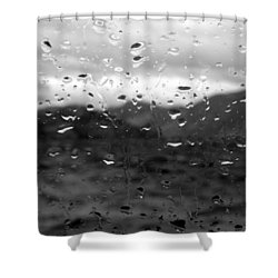 Rain And Wind Shower Curtain