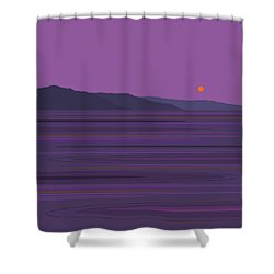Rain At The Lake Shower Curtain by Val Arie