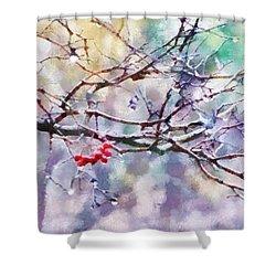 Rain Berries Shower Curtain