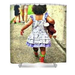Rain Boots And Curious George Shower Curtain