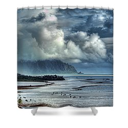 Rain Clearing Kaneohe Bay Shower Curtain