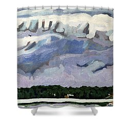 Rain Clouds Shower Curtain by Phil Chadwick