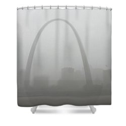 Rain Delay In St Louis Shower Curtain by Garry McMichael