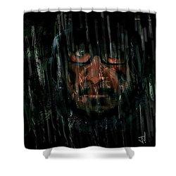 Shower Curtain featuring the painting Rain Nor Sleet Nor Snow by Jim Vance