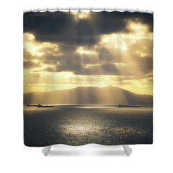 Rain Of Light Shower Curtain
