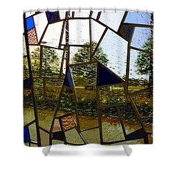 Rain On Glass Shower Curtain by David Lee Thompson