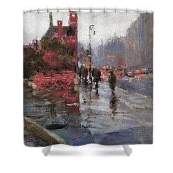 Rain On Sixth Avenue Shower Curtain by Peter Salwen