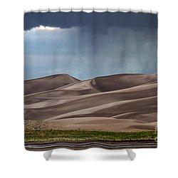 Rain On The Great Sand Dunes Shower Curtain