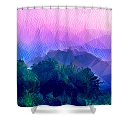 Rain On The Mountains  Shower Curtain
