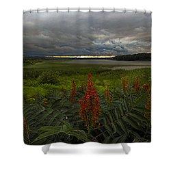 Rain Over The Mohawk Shower Curtain