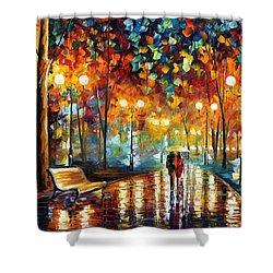 Rain Rustle Shower Curtain by Leonid Afremov
