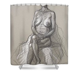 Rain Seated #2 Shower Curtain by Donelli  DiMaria