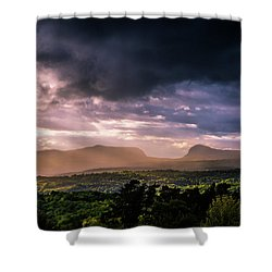 Rain Showers Over Willoughby Gap Shower Curtain