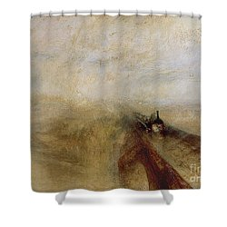 Rain Steam And Speed Shower Curtain by Joseph Mallord William Turner