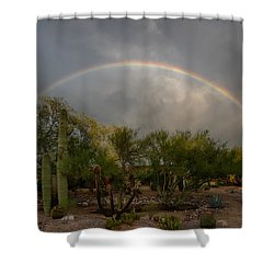 Shower Curtain featuring the photograph Rain Then Rainbows by Dan McManus