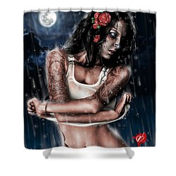 Rain When I Die Shower Curtain by Pete Tapang