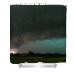 Rain-wrapped Tornado Shower Curtain
