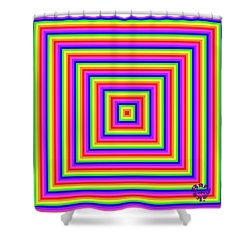 Shower Curtain featuring the digital art Rainbow #1 by Barbara Tristan
