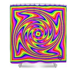 Shower Curtain featuring the digital art Rainbow #2 by Barbara Tristan