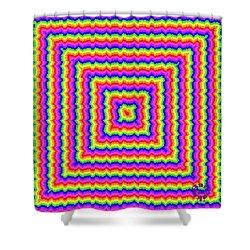 Shower Curtain featuring the digital art Rainbow #3 by Barbara Tristan