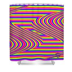 Shower Curtain featuring the digital art Rainbow #5 by Barbara Tristan