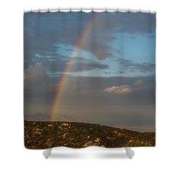 Rainbow Above Lagunas Shower Curtain