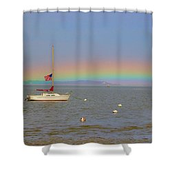 Rainbow Shower Curtain by Amazing Jules