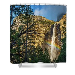 Rainbow And Bridalveil Fall Shower Curtain