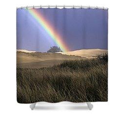 Rainbow And Dunes Shower Curtain