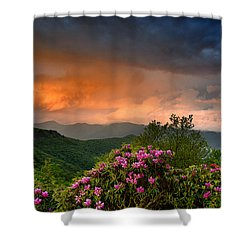 Rainbow And Rhododendrons On The Parkway Shower Curtain