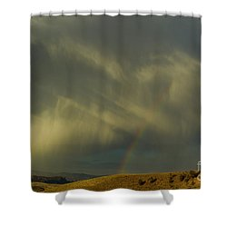 Rainbow And White Light-signed-#9456 Shower Curtain